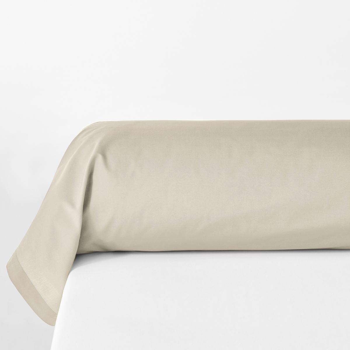 Наволочка La Redoute На подушку-валик из биохлопковой перкали 85 x 185 см бежевый