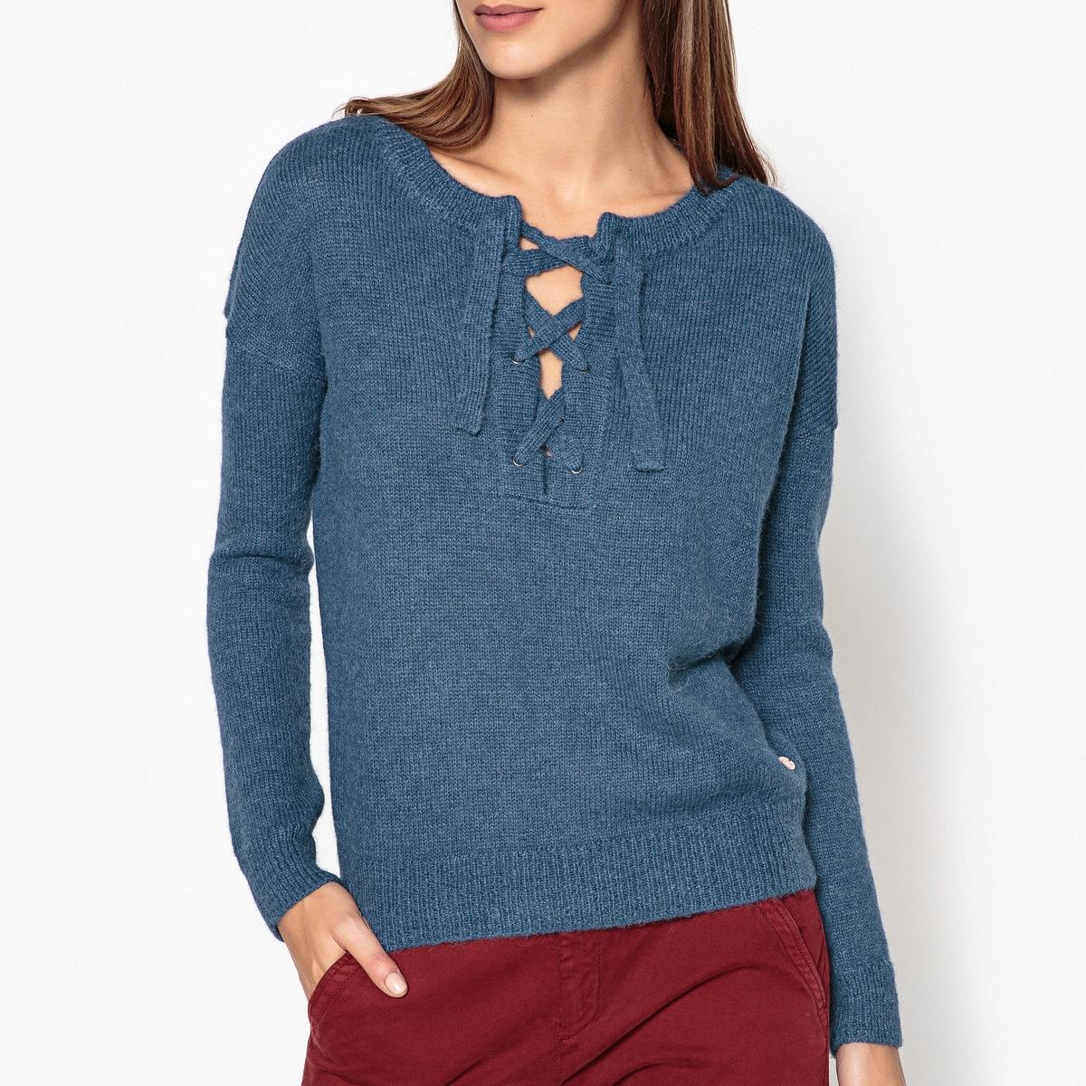 Пуловер MANETTEПуловер HARRIS WILSON - модель MANETTEДетали •  Длинные рукава •  Тунисский вырез •  Тонкий трикотаж Состав и уход •  55% альпаки, 45% полиамида •  Следуйте советам по уходу, указанным на этикетке<br><br>Цвет: синий