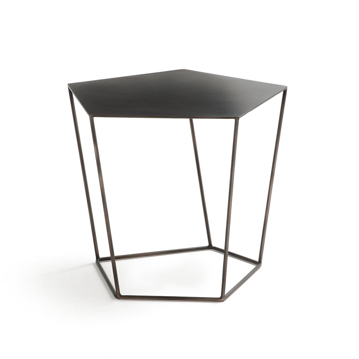 Столик журнальный металлический, В40 см, DisicoleЖурнальный столик Disicole. Столешница оригинальной шестиугольной формы. Можно сочетать с соответствующим журнальным столиком В.50 см от Disicole, продающемся на нашем сайте.Характеристики :- Металл с эффектом старения- Поставляется в собранном видеРазмер :- Ш.46,8 x В.40 x Г.44,6 см, 5,8 кгРазмеры и вес упаковки :- Ш.58,1 x В.46,4 x Г.55,9 см, 12 кг<br><br>Цвет: темно-серый металл