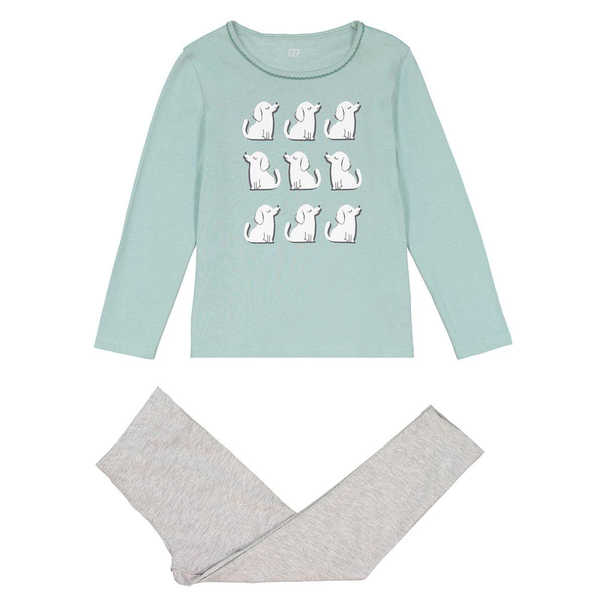 Pyjama manches longues, imprimé chiens, 3 - 12 ans