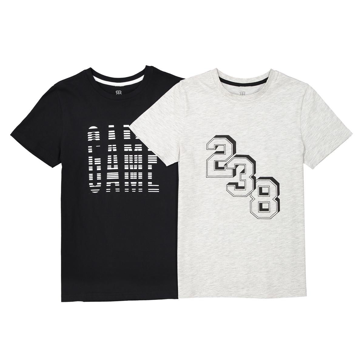 Confezione da 2 T-shirt fantasia scollo rotondo da 10 a 16 anni