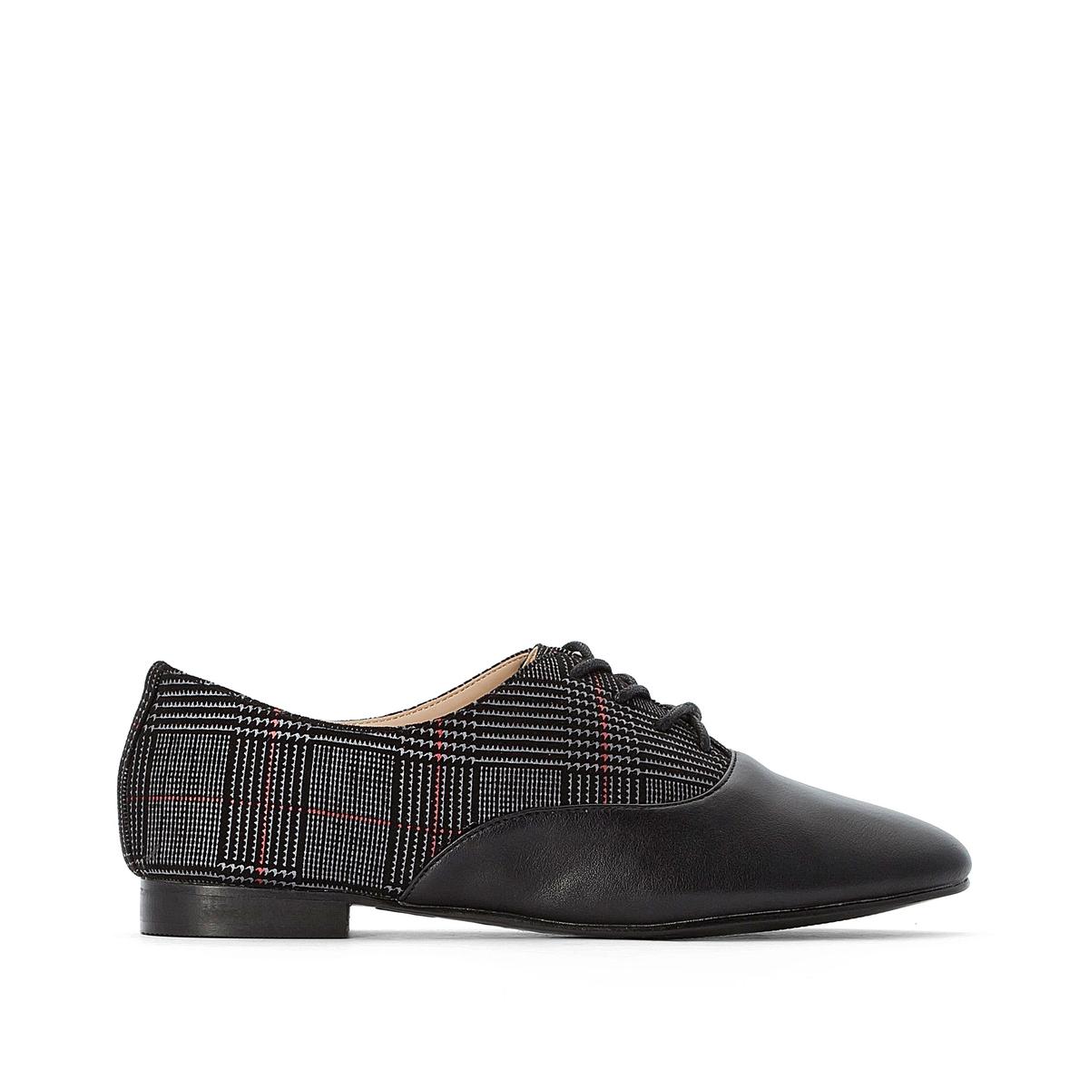 Ботинки-дерби La Redoute На шнуровке 38 черный ботинки la redoute на шнуровке 38 белый