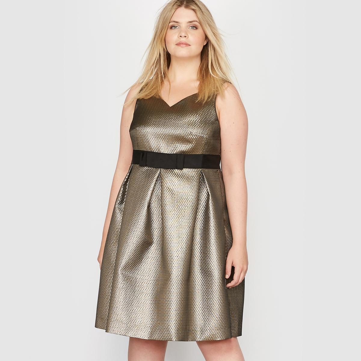 Платье вечернее без рукавов из блестящей жаккардовой ткани вечернее платье yu qi princess c29083