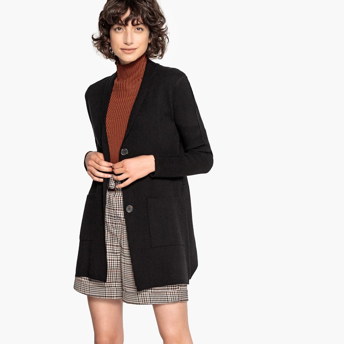 Кардиган с поясом из плотного трикотажа пуловер из плотного трикотажа с v образным вырезом