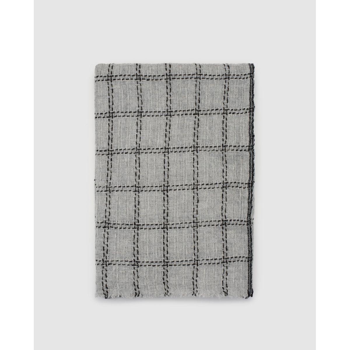Foulard en laine avec Fil textile