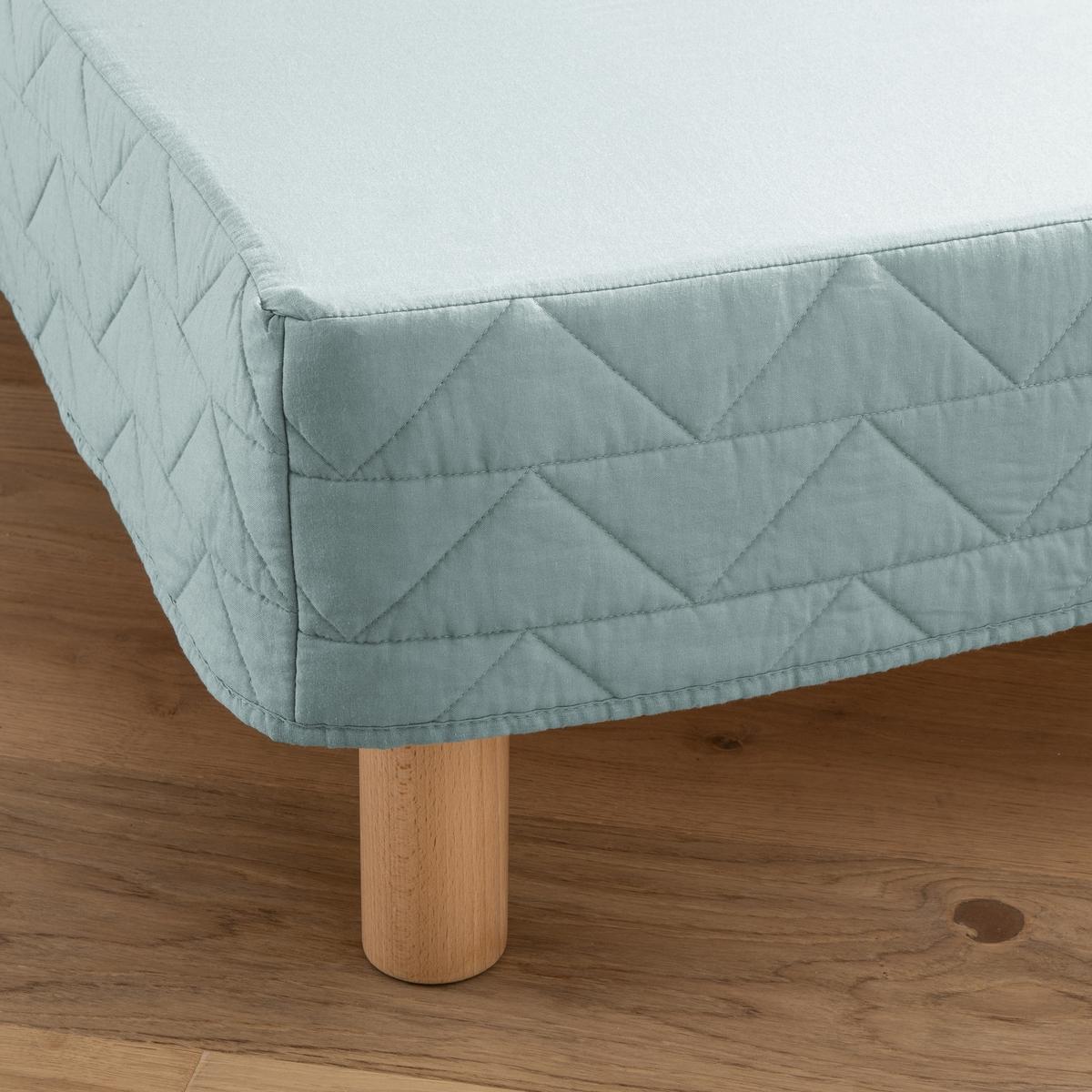 Чехол La Redoute Для кроватного основания стеганый Zig-Zag 160 x 200 см зеленый