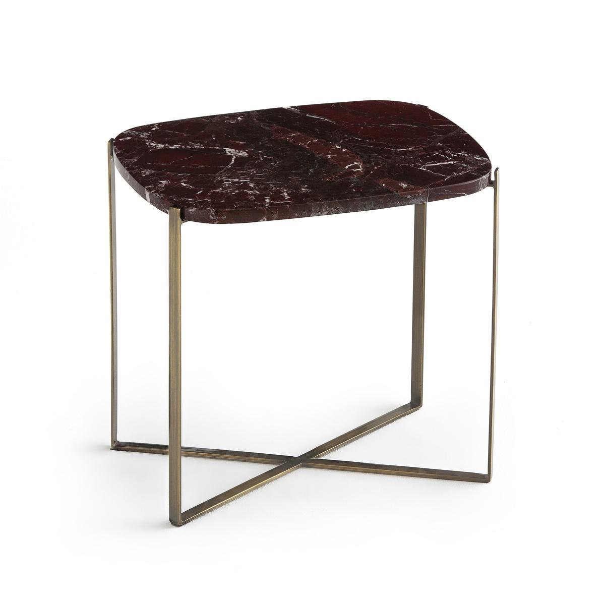 Столик журнальный прямоугольный . мрамор ArambolПрямоугольный диванный столик Arambol. Удачное сочетание столешницы из мрамора и тонкого каркаса с состаренным эффектом. Можно использовать отдельно или в сочетании с овальным диванным столиком.Характеристики : - Столешница из мрамора, толщиной 1,5 см. Каждое изделие уникально  . Прожилки могут  быть более или менее заметны  .- Каркас из металла с отделкой из латуни с эффектом старения- Органическая форма- Данная модель легко собирается, инструкция по сборке прилагаетсяРазмеры : - Ш.41 x В.38 x Г.31,7 смРазмеры и вес ящика : - Ш.2,5 x В.10 x Г.46,4 см, 5,82 кг et Ш.42 x В.42 x Г.27,5 см, 2,38 кгДоставка :Доставка по предварительной договоренности, возможен подъём на этаж ! Внимание! Убедитесь в том, что товар возможно доставить на дом, учитывая его габариты (проходит в двери, по лестницам, в лифты).<br><br>Цвет: Бордовый мрамор,Зеленый мрамор<br>Размер: единый размер