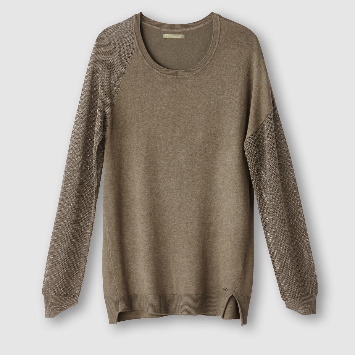 Пуловер с круглым воротникомСостав и описаниеМатериал: 78% вискозы, 19% нейлона, 3% эластана.Марка: LES PTITES BOMBES.<br><br>Цвет: хаки,черный
