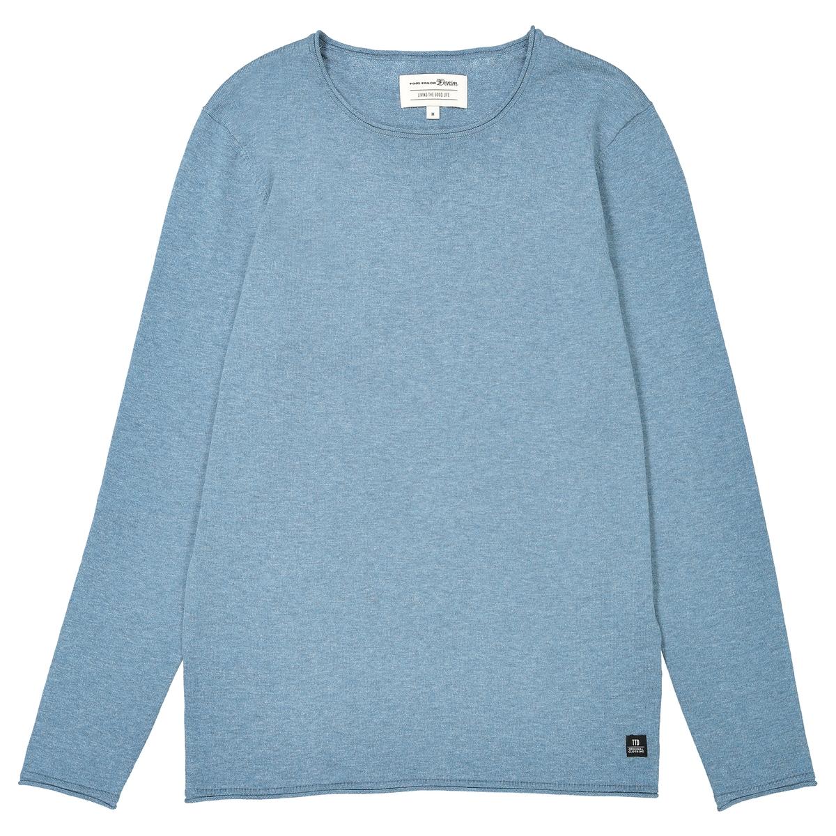 Пуловер с круглым вырезом, из тонкого трикотажаДетали •  Длинные рукава •  Круглый вырез •  Тонкий трикотажСостав и уход •  100% хлопок •  Следуйте рекомендациям по уходу, указанным на этикетке изделия<br><br>Цвет: антрацит,красный/ бордовый,синий меланж,синий морской