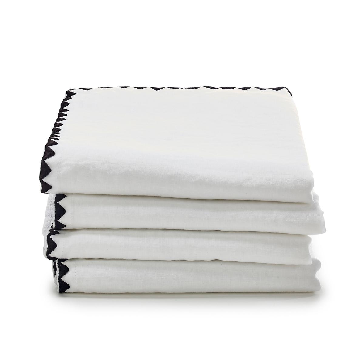 Комплект из 4 салфеток из полушерстяной ткани из хлопка и льна, Adrio