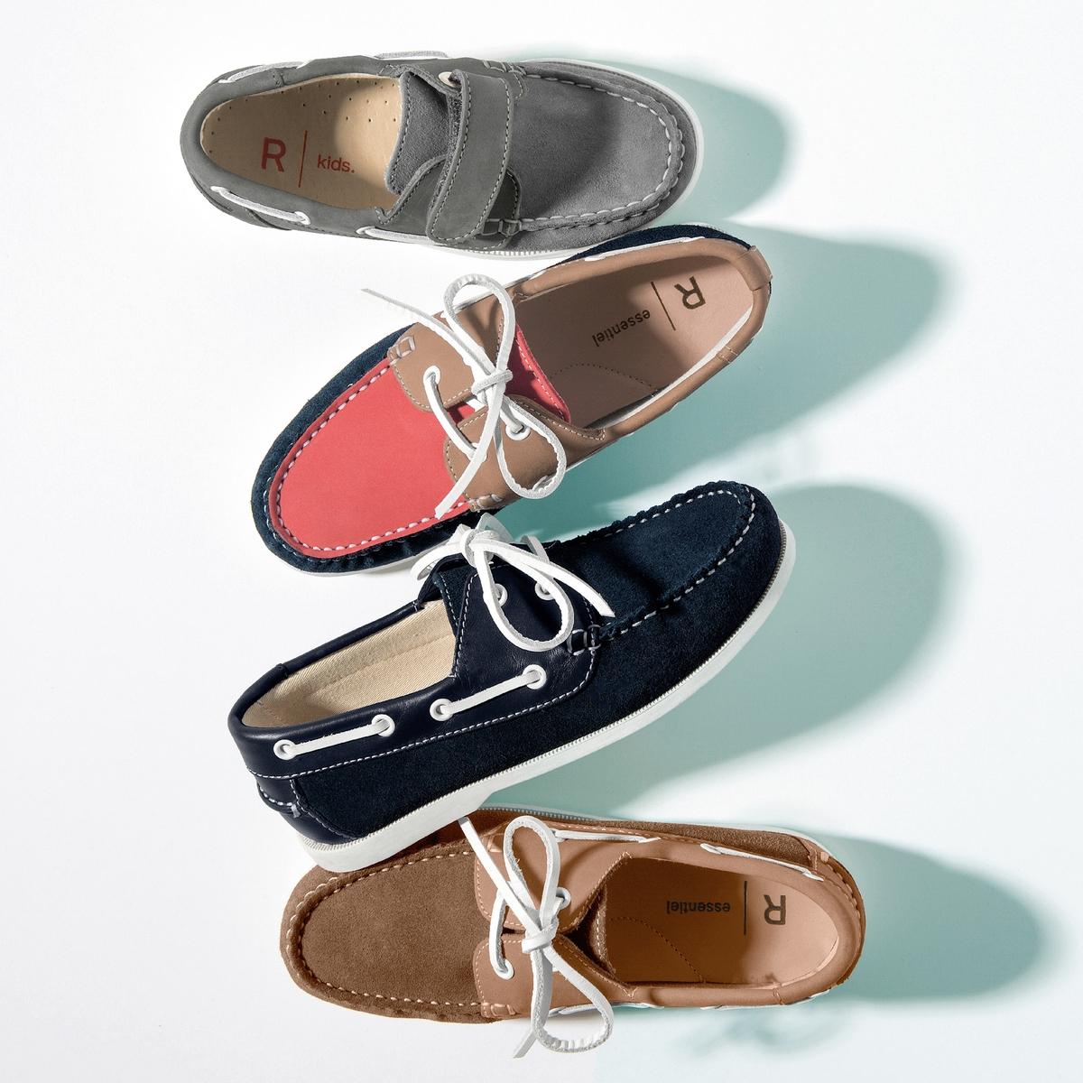 Туфли-лодочки из спилка, размеры 26-40 от La Redoute
