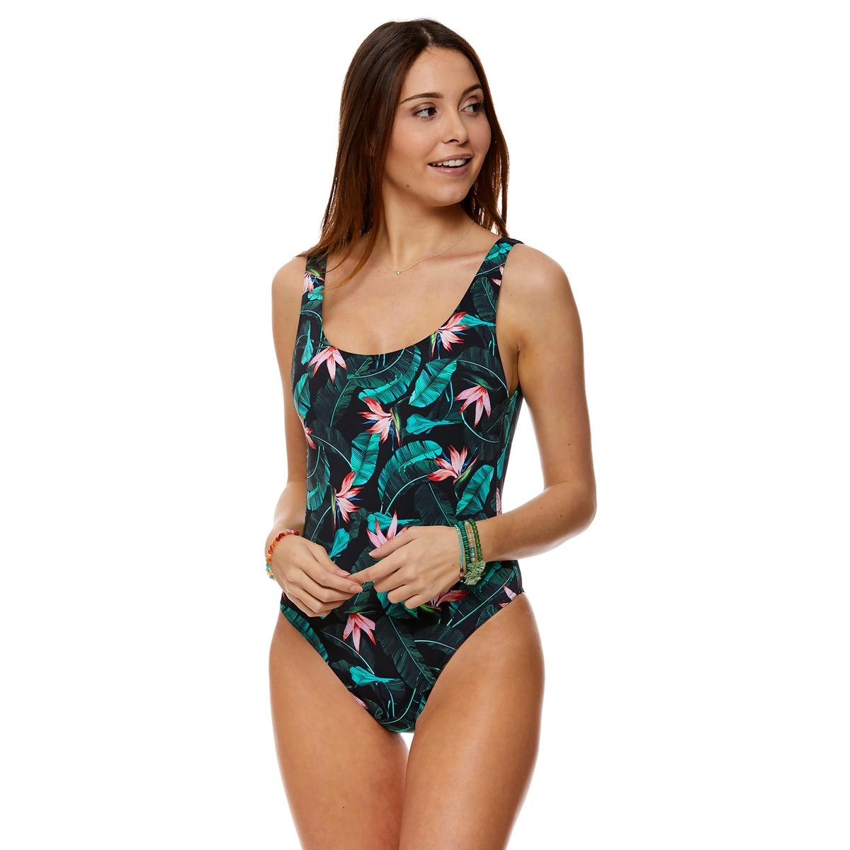 Imagen principal de producto de Bañador con estampado tropical, Borage - Banana Moon