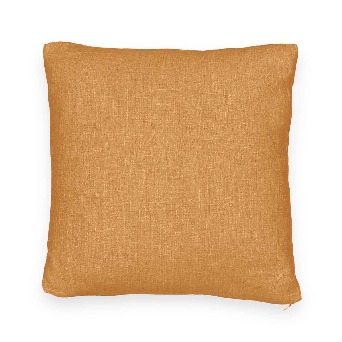 Чехол на подушку-валик из стираного льна, ONEGA