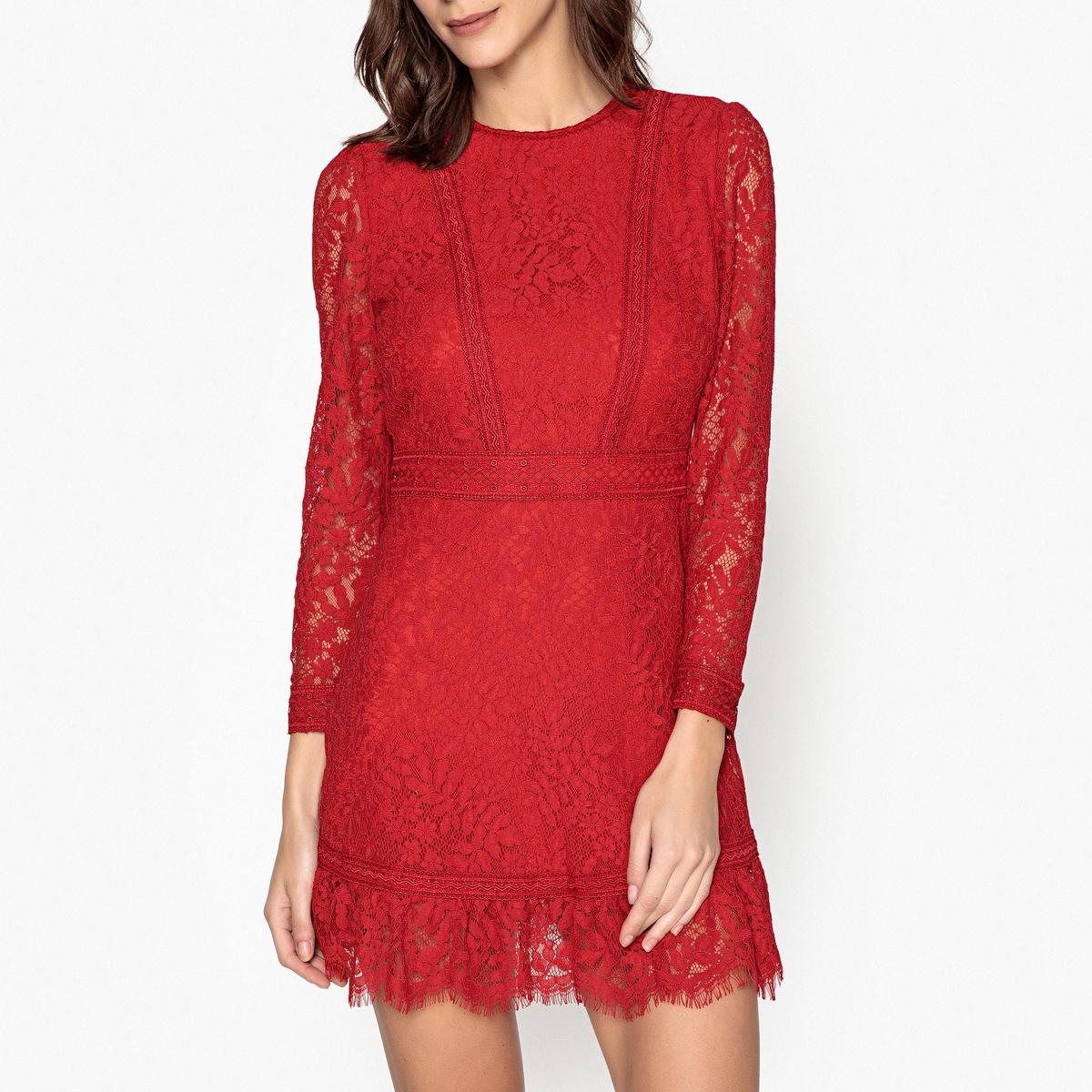 Платье с длинными рукавами из кружева платье с длинными рукавами