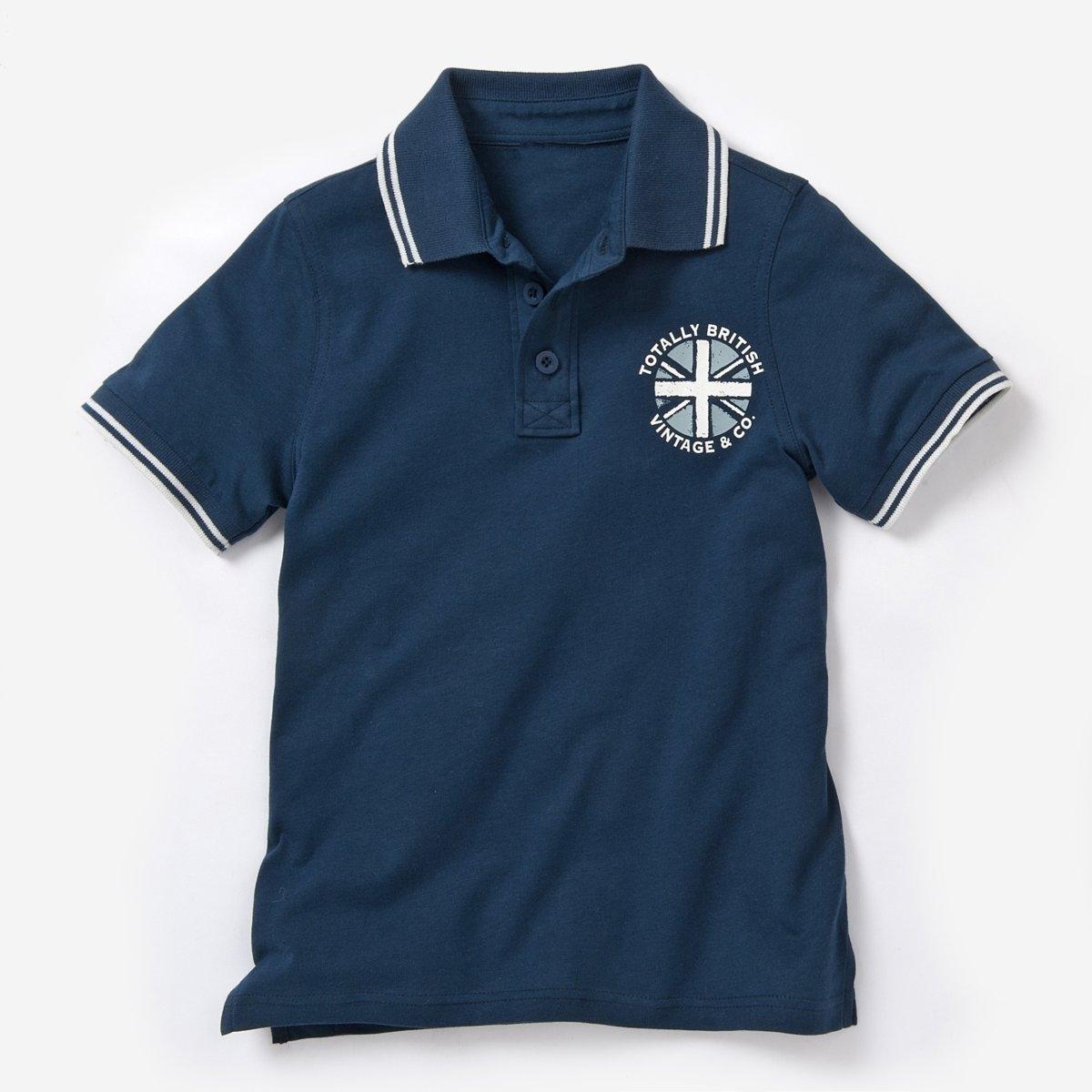 Футболка-поло с рисунком на груди, 3-12 лет футболка поло с вышивкой на груди на 3 12 лет