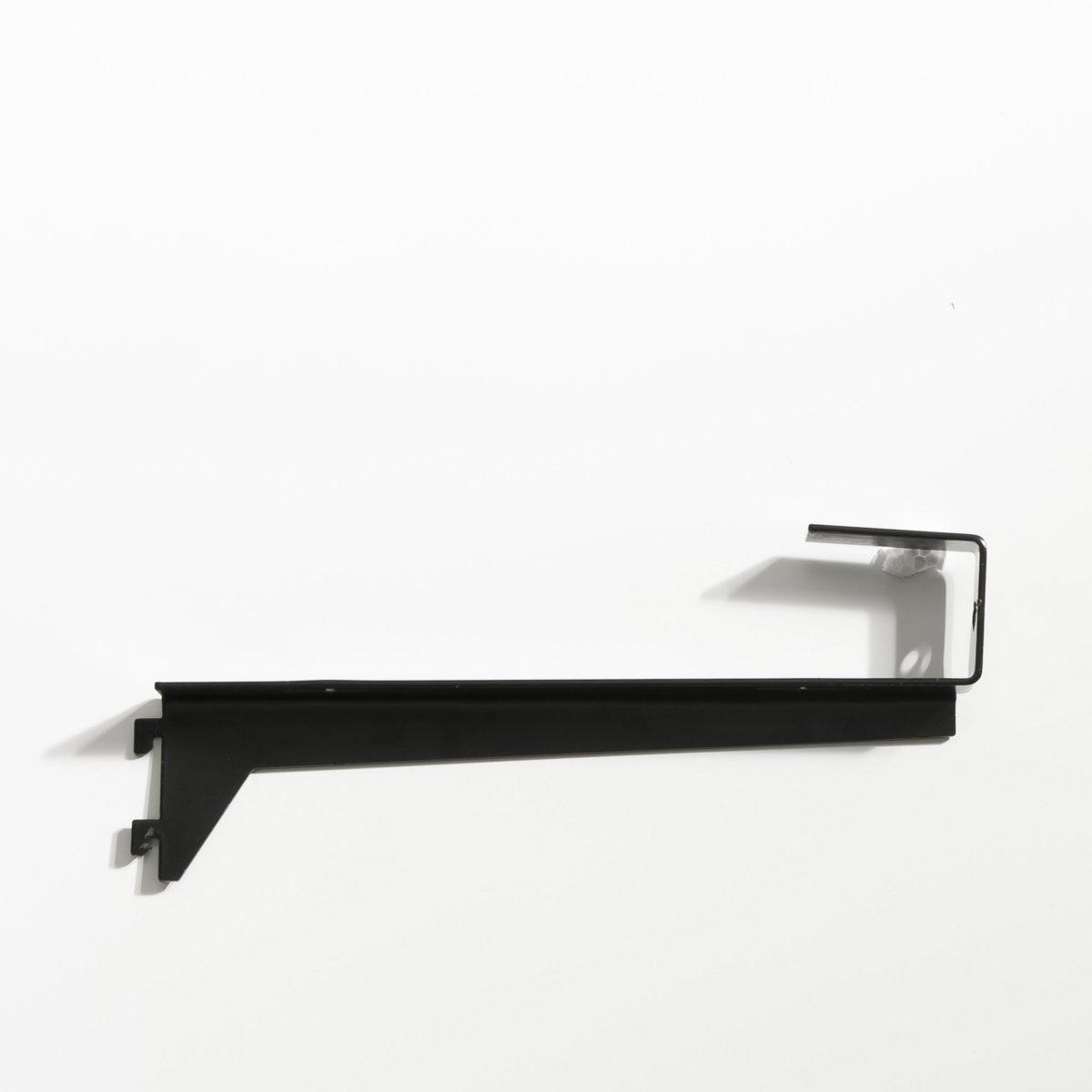 Кронштейн угловой для этажерок Kyriel (2 шт)Размеры кронштейна : Длина 22 x Ширина 9 x толщина 2,5 см . Комплект из 2 штук.Мебель для гардероба Kyriel - это эстетичная и практичная система, модулируемая при желании, созданная для любых пространств и стилей  .<br><br>Цвет: черный
