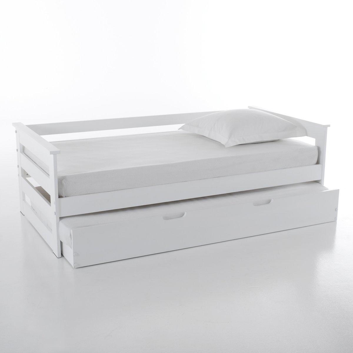 Кровать LaRedoute Двухъярусная из сосны ELLIS 90 x 190 см белый
