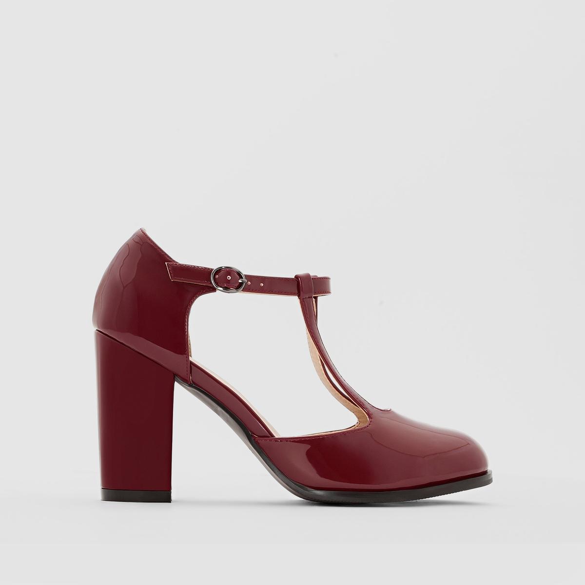 Туфли с лаковой отделкой на широкую ногу 38-45 от CASTALUNA
