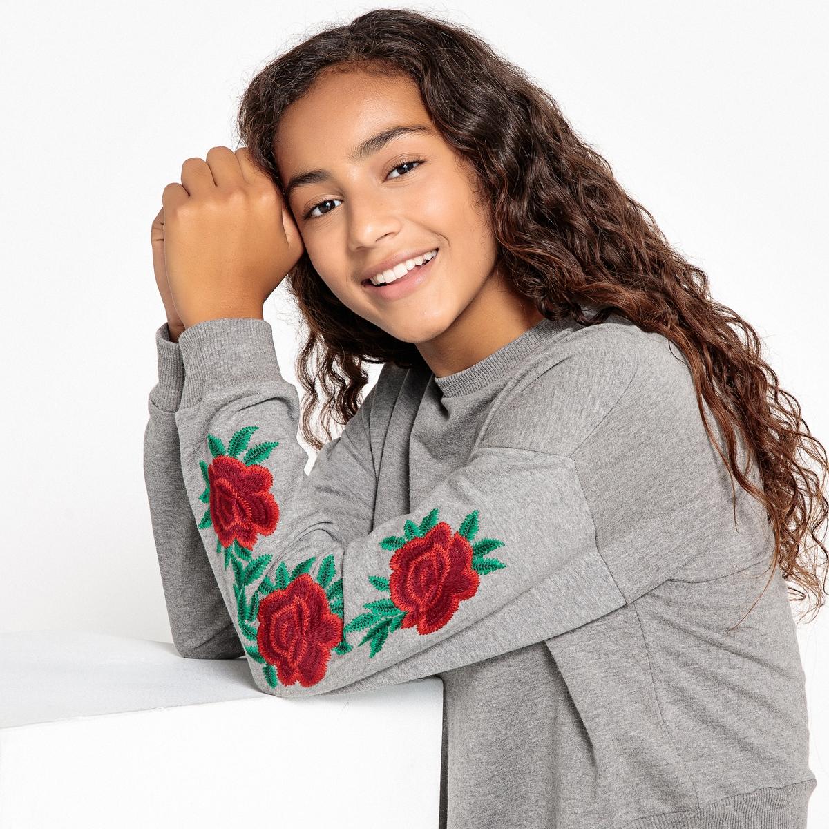 все цены на Свитшот с цветочной вышивкой 10-16 лет