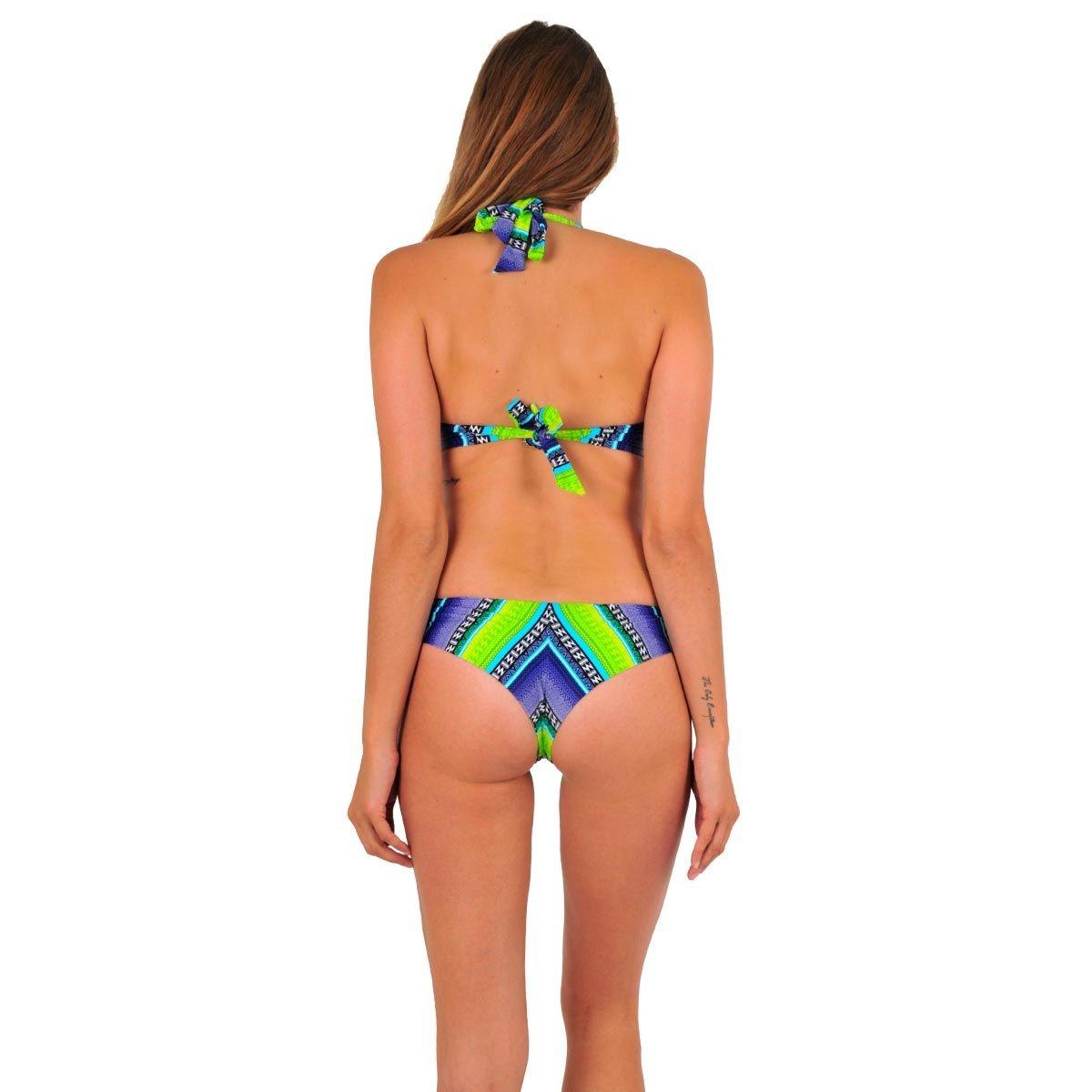Maillot de bain 2 pièces tanga vert Surf