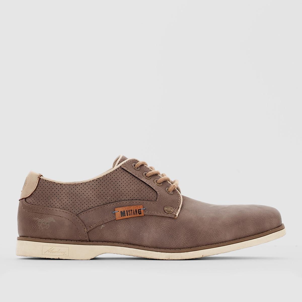 Ботинки-дерби на шнуровкеЕсли вы хотите покорить большие города или отдаленные уголки Земли, вам нужна отличная обувь с характером! Прекрасные ботинки-дерби Mustang в аутентичном строгом стиле помогут вам в этом!<br><br>Цвет: темно-серый
