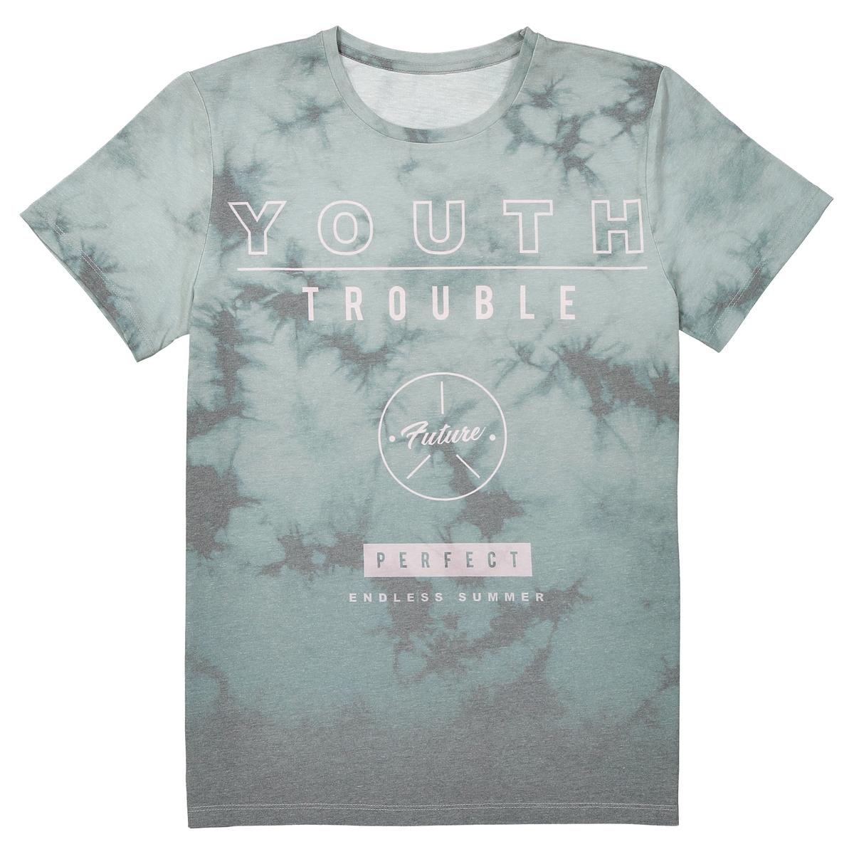 T-shirt estampada, gola redonda, 10-16 anos