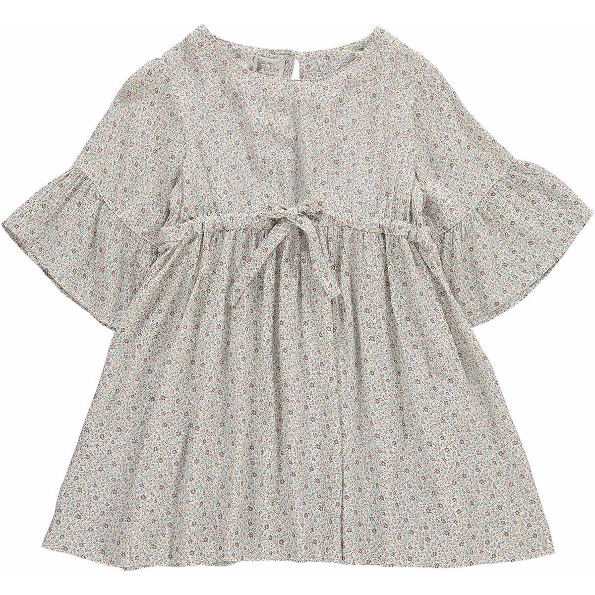 Robe en coton avec imprimé fleurs