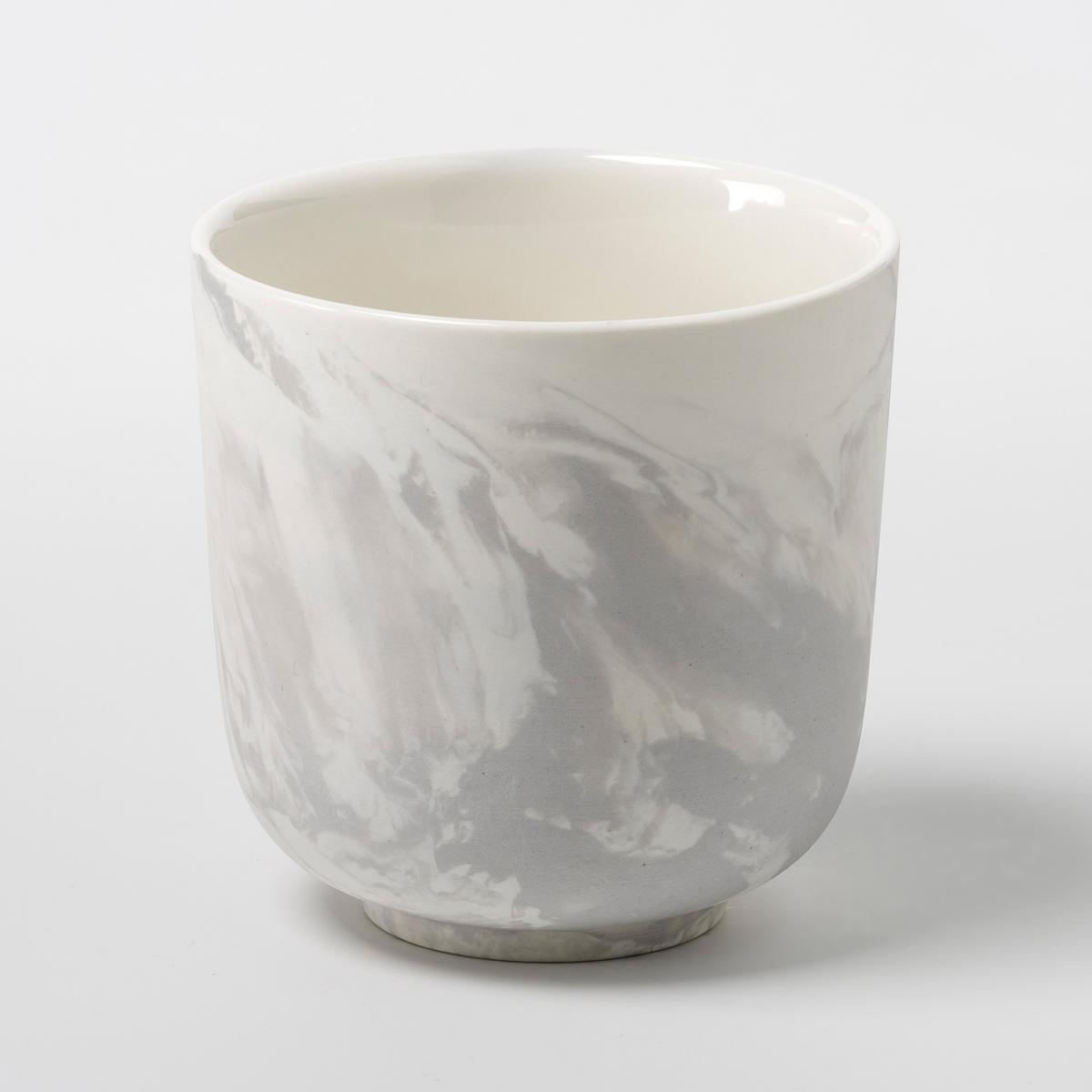 Комплект из 2 фарфоровых чашек Marbretta<br><br>Цвет: серый<br>Размер: единый размер