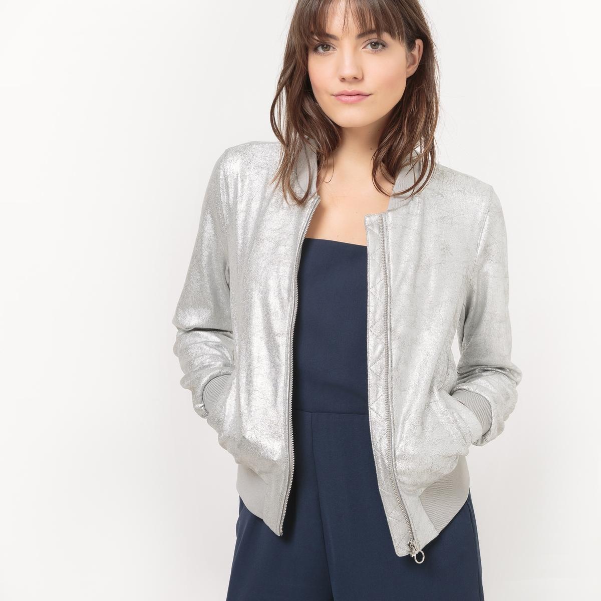 Куртка из искусственной замши на молнии