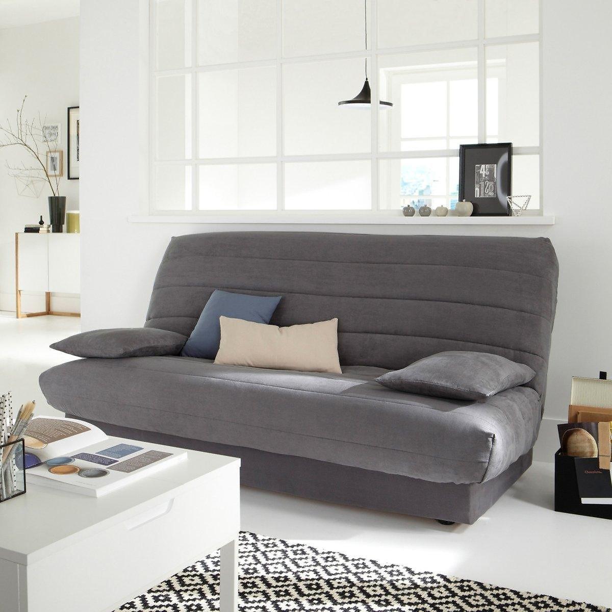 Чехол LaRedoute Для раскладного дивана из искусственной замши единый размер серый