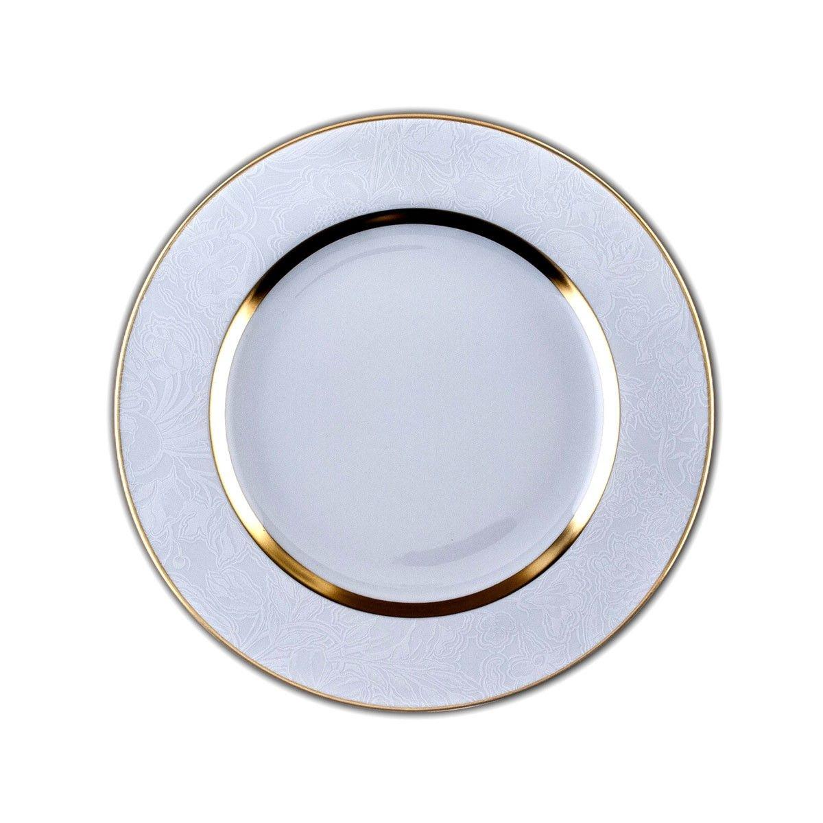 Assiette plate Porcelaine de Limoges décor 26,5 cm SHERRY BLANC
