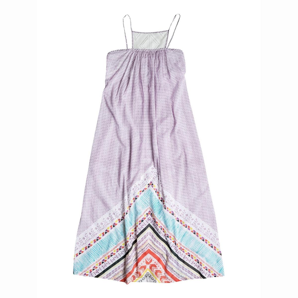 Платье длинное на тонких бретелях, с рисунком ROXY, LOST BOHEMIANСостав и характеристики: :Материалы  : 100% хлопкаМарка : ROXY<br><br>Цвет: белый наб.рисунок<br>Размер: M