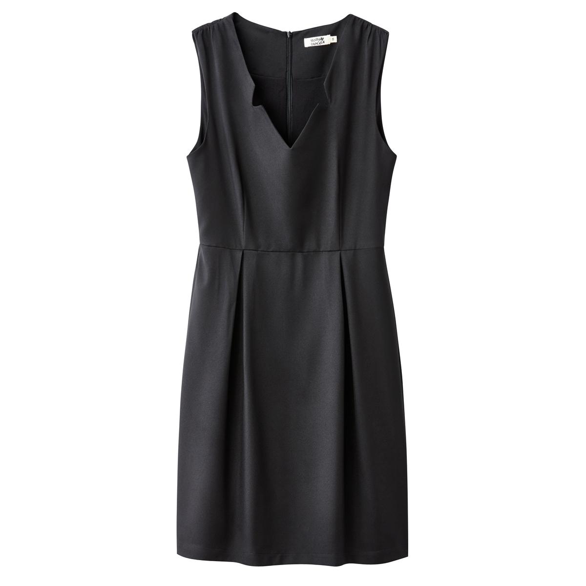 Платье без рукавов приталенного покрояМатериал : 100% полиэстер       Длина рукава : без рукавов       Форма воротника : V-образный вырез      Покрой платья : платье прямого покроя     Рисунок : Однотонная модель        Длина платья : короткое.<br><br>Цвет: коралловый,черный<br>Размер: M
