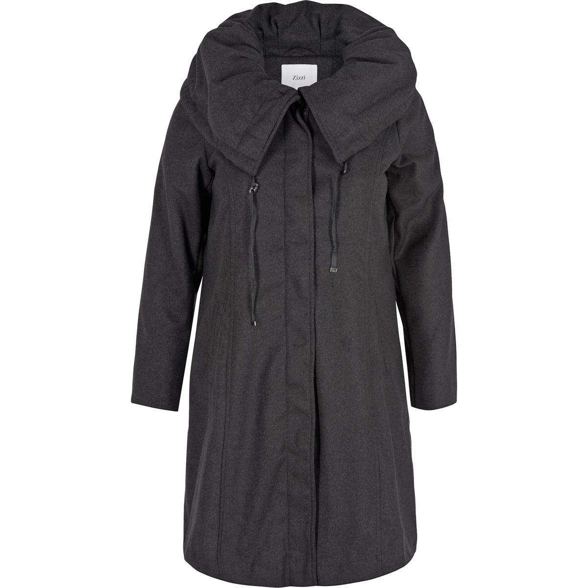 ПальтоКрасивое пальто Zizzi. Косые карманы вдоль боковых швов, что придает пальто простоту и элегантность. Красивый воротник, на подкладке, застежка на скрытую пуговицу.<br><br>Цвет: серый<br>Размер: 42/44 (FR) - 48/50 (RUS)