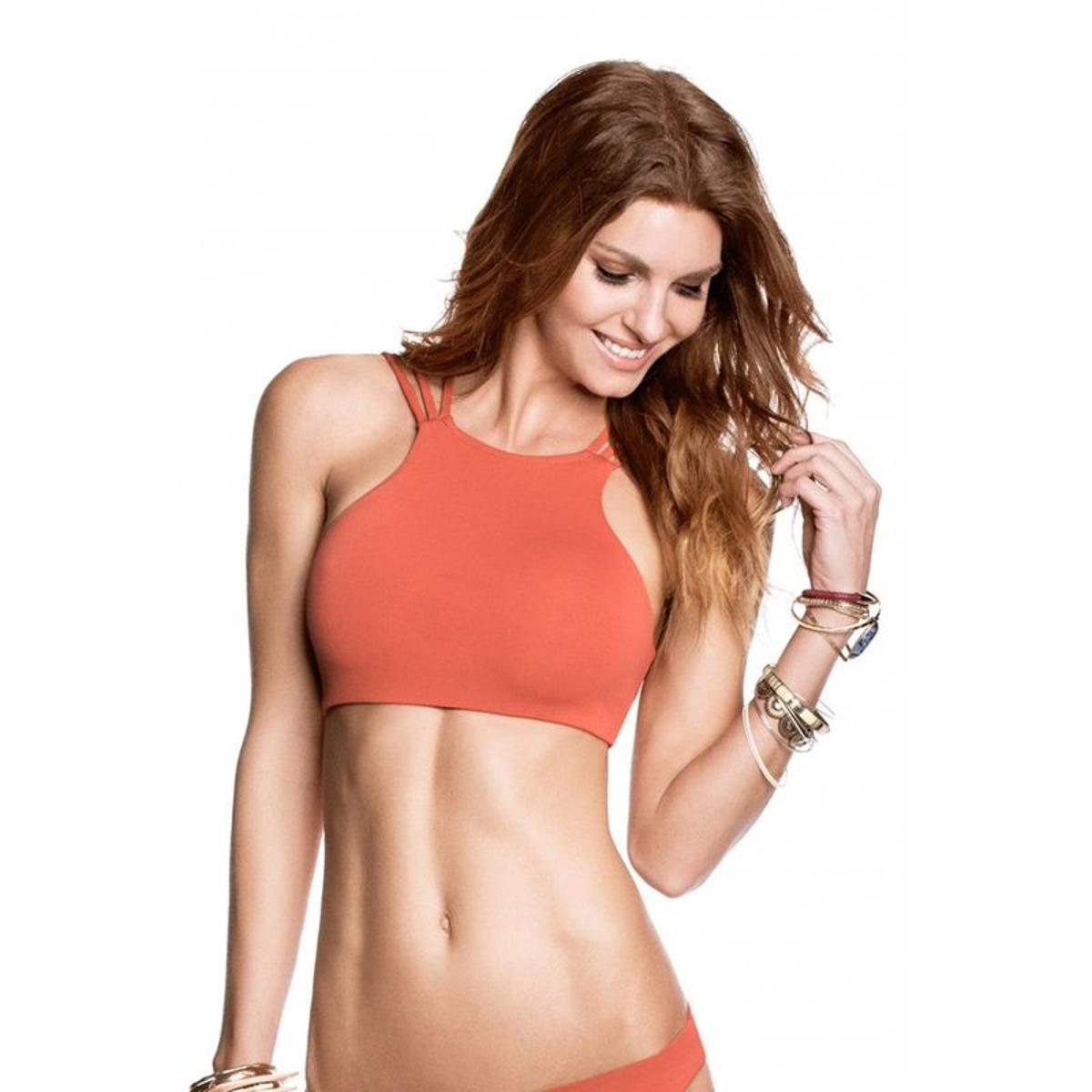 Haut de Bikini Brassiere réversible  / imprimé