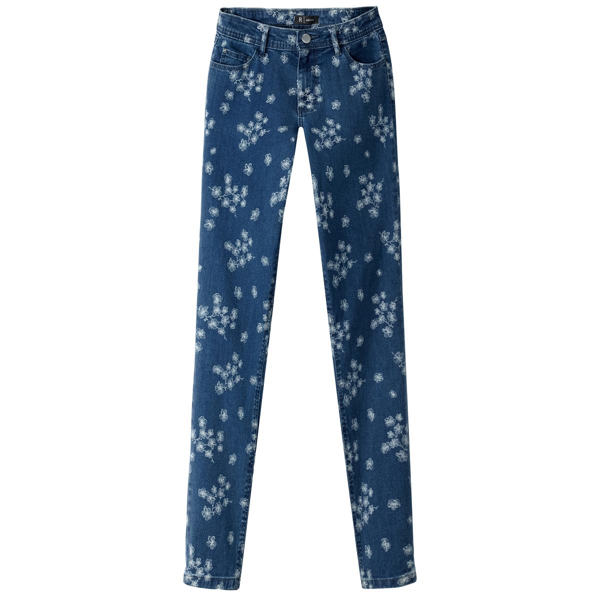 Джинсы-скинни с цветочным рисунком джинсы узкие скинни с вышивкой для 10 16 лет
