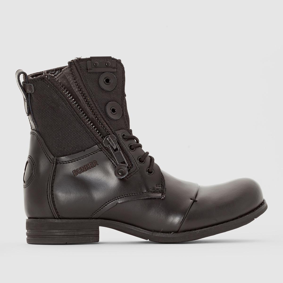 Ботинки, PORВерх/Голенище: Яловичная кожа. Подкладка: Ткань.Стелька: Кожа.                 Подошва: Каучук.                 Высота голенища: 20 см.Форма каблука: Плоская.Мысок: Круглый.     Застежка: На молнию.<br><br>Цвет: черный<br>Размер: 43
