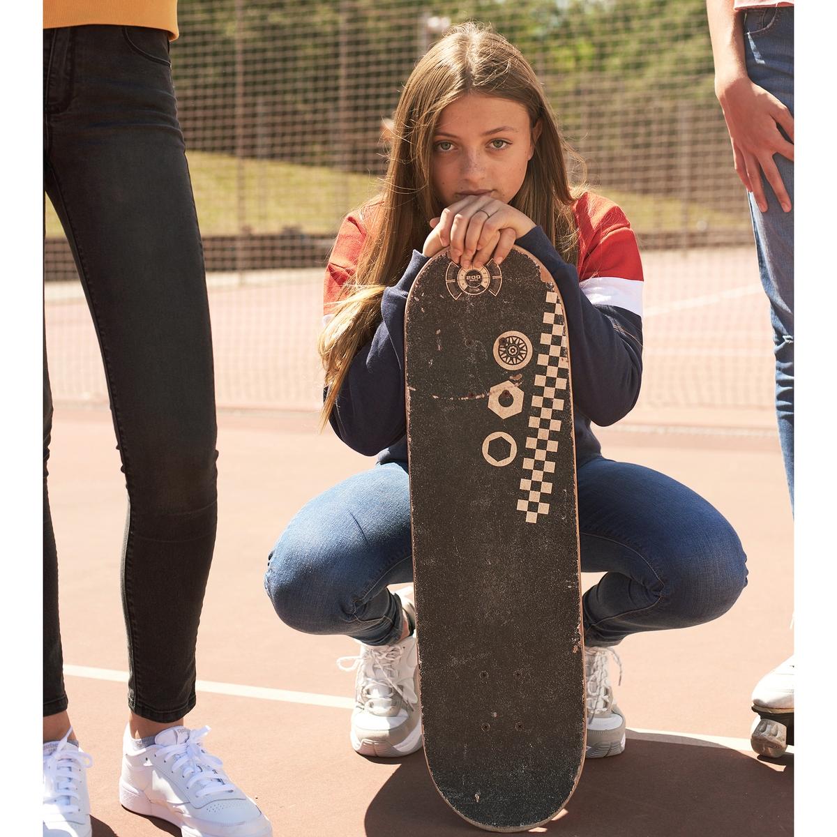 Sweat curta gola redonda, em moletão, 10-16 anos
