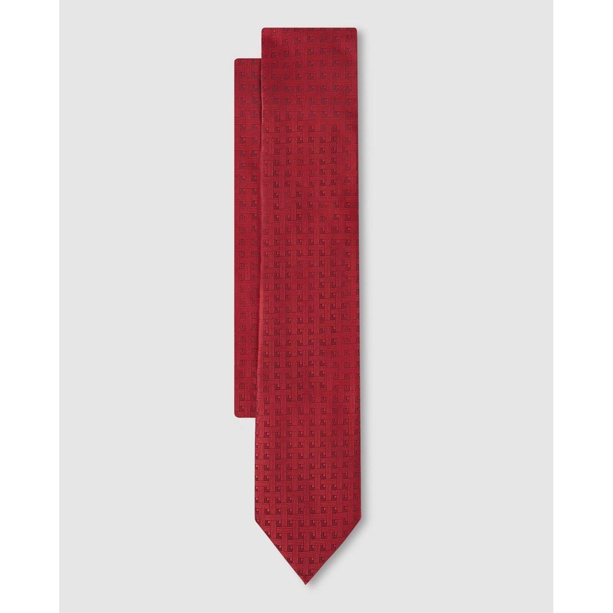 Cravate en polyester imprimé géométrique