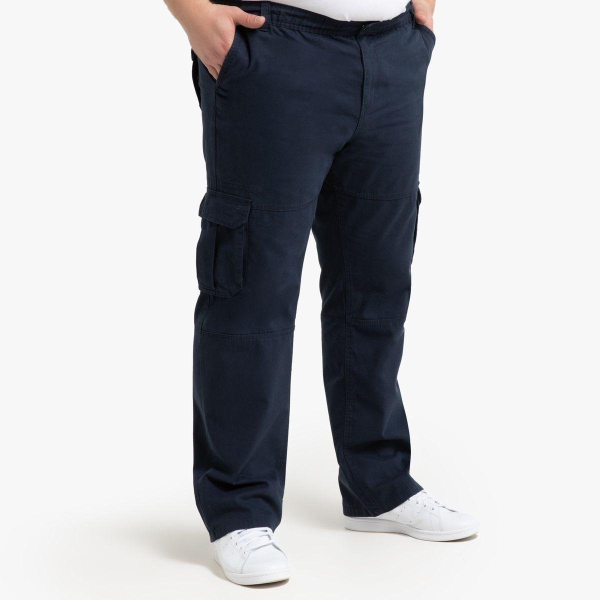 Pantalon cargo, taille élastiquée