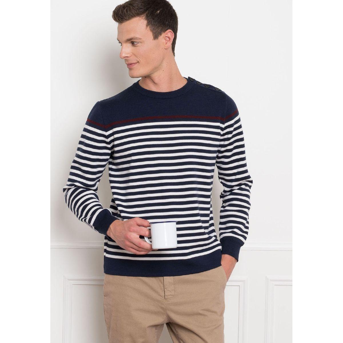 Pull marinière laine MOULIN