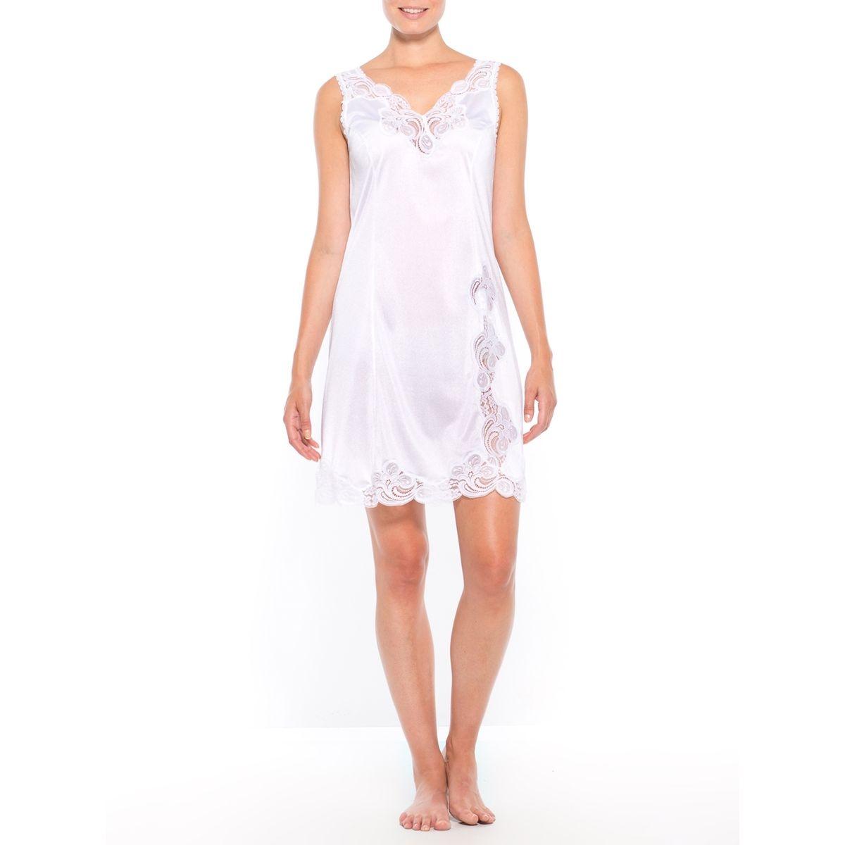 Fond de robe maille satinée, longueur 90cm