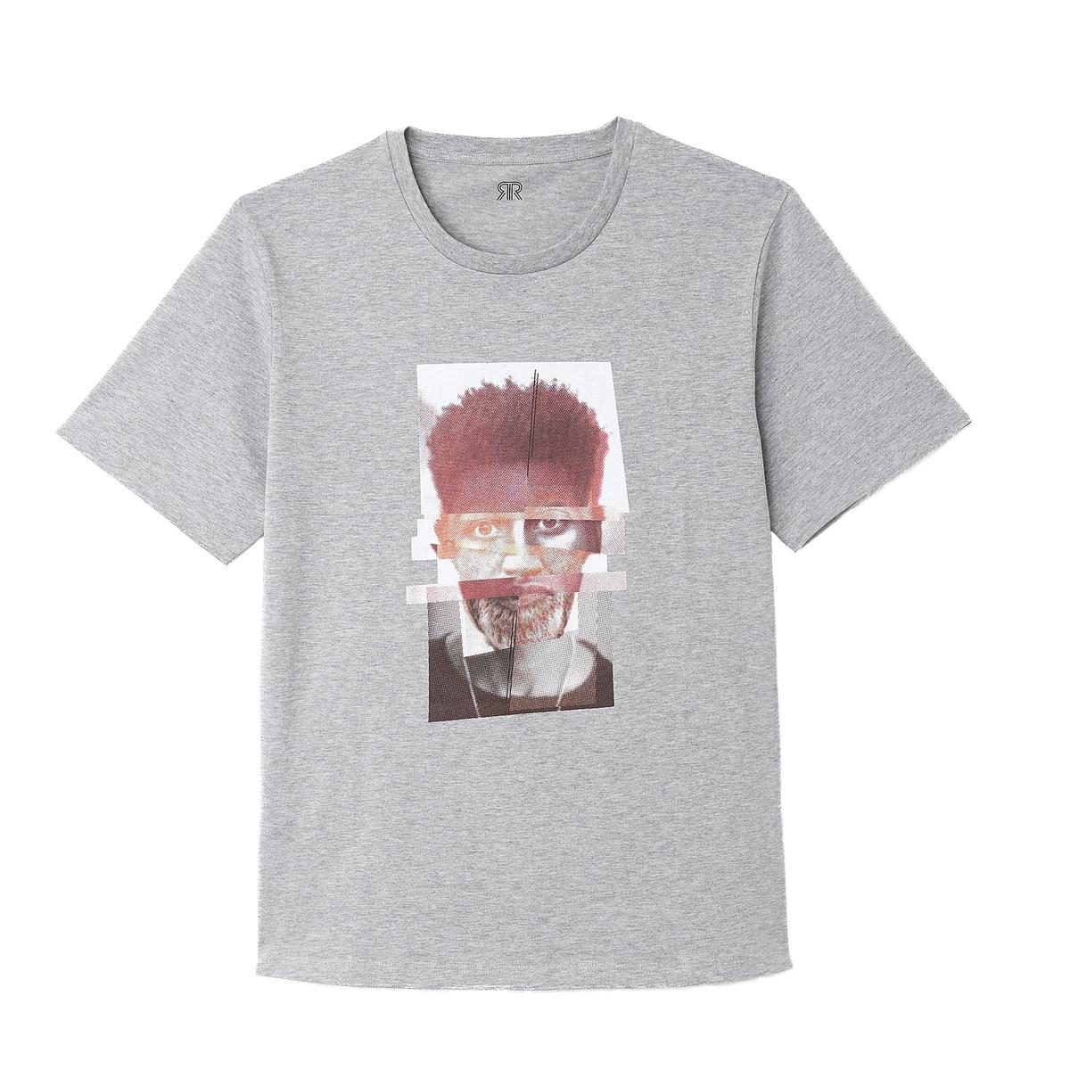 T-shirt de gola redonda, mangas curtas
