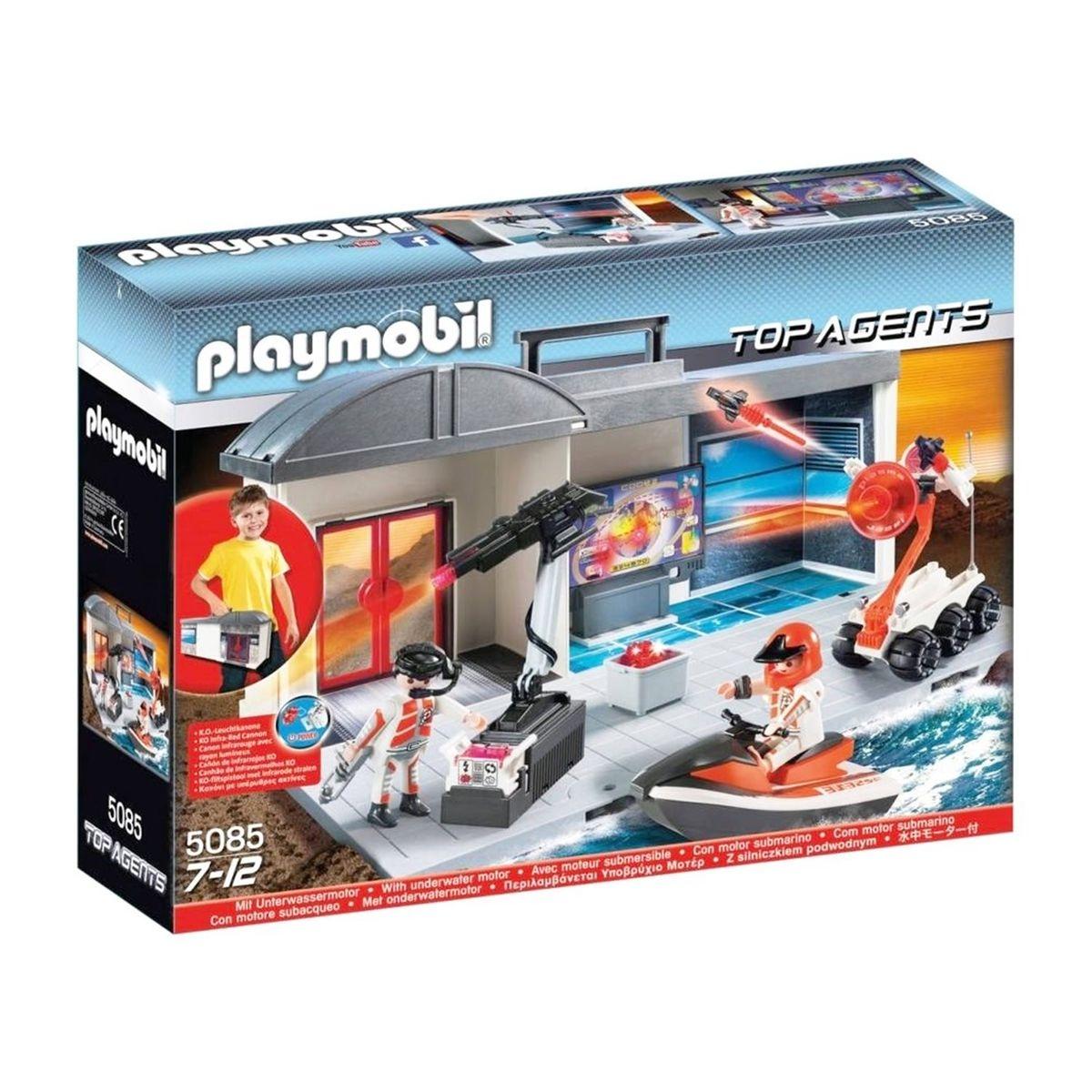 PLAYMOBIL 5085 Top Agents - Quartier général transportable