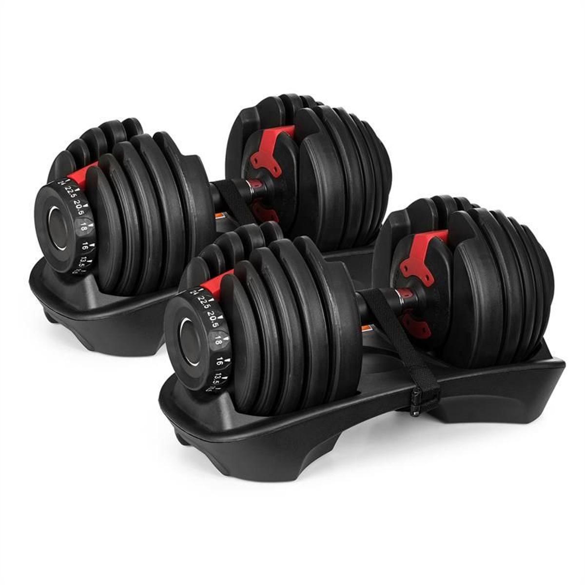 Klarfit AD 5255 Paire d'haltères courts réglables de 2,5 à 24 kg support noir