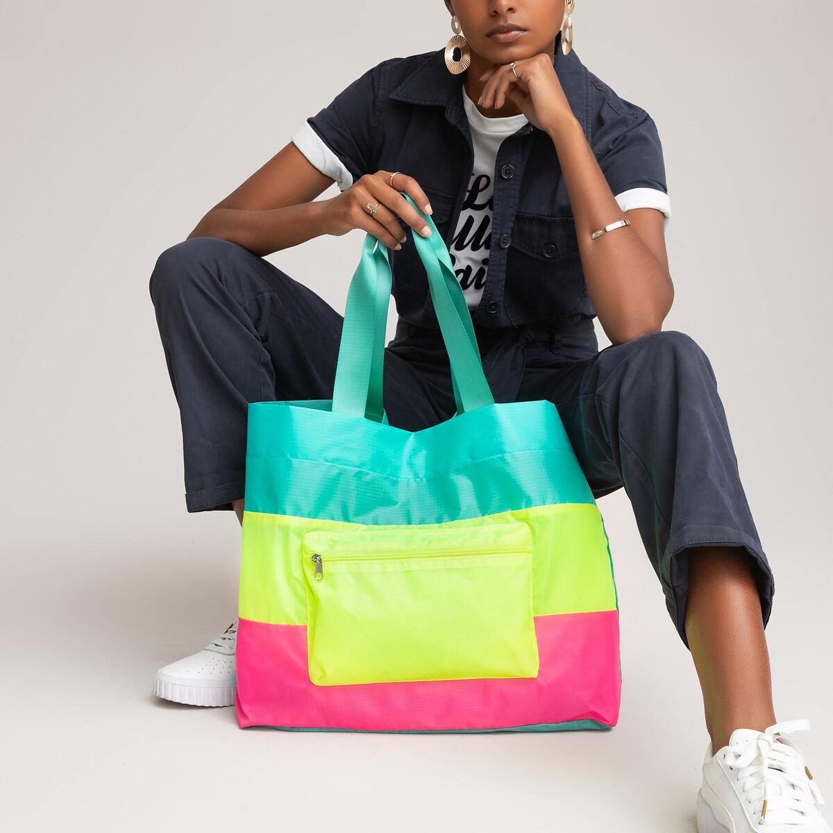 Фото - Сумка-шоппер LaRedoute Складная единый размер разноцветный сумка шоппер laredoute из льна с блесками единый размер синий
