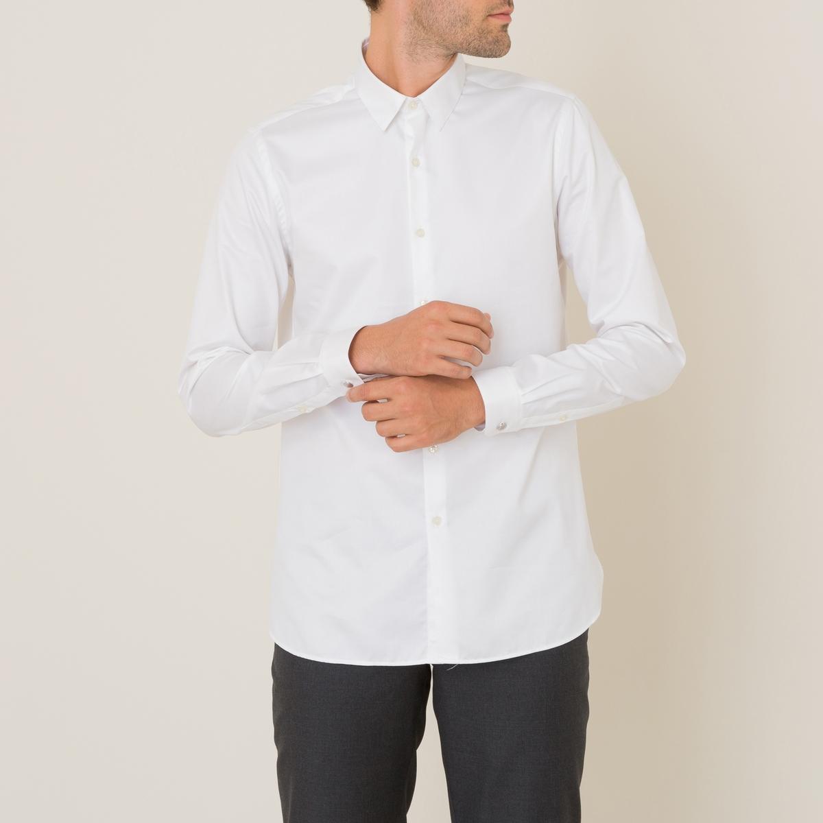 Рубашка из хлопкового твилаРубашка  THE KOOPLES, из хлопкового твила  . Классический воротник. Длинные рукава с пуговицами внизу. Разрез с планкой на пуговицах   . Закругленный низ по бокам. Легкий и струящийся покрой  .Состав и описание Материал : 100% хлопок Марка : THE KOOPLES<br><br>Цвет: белый