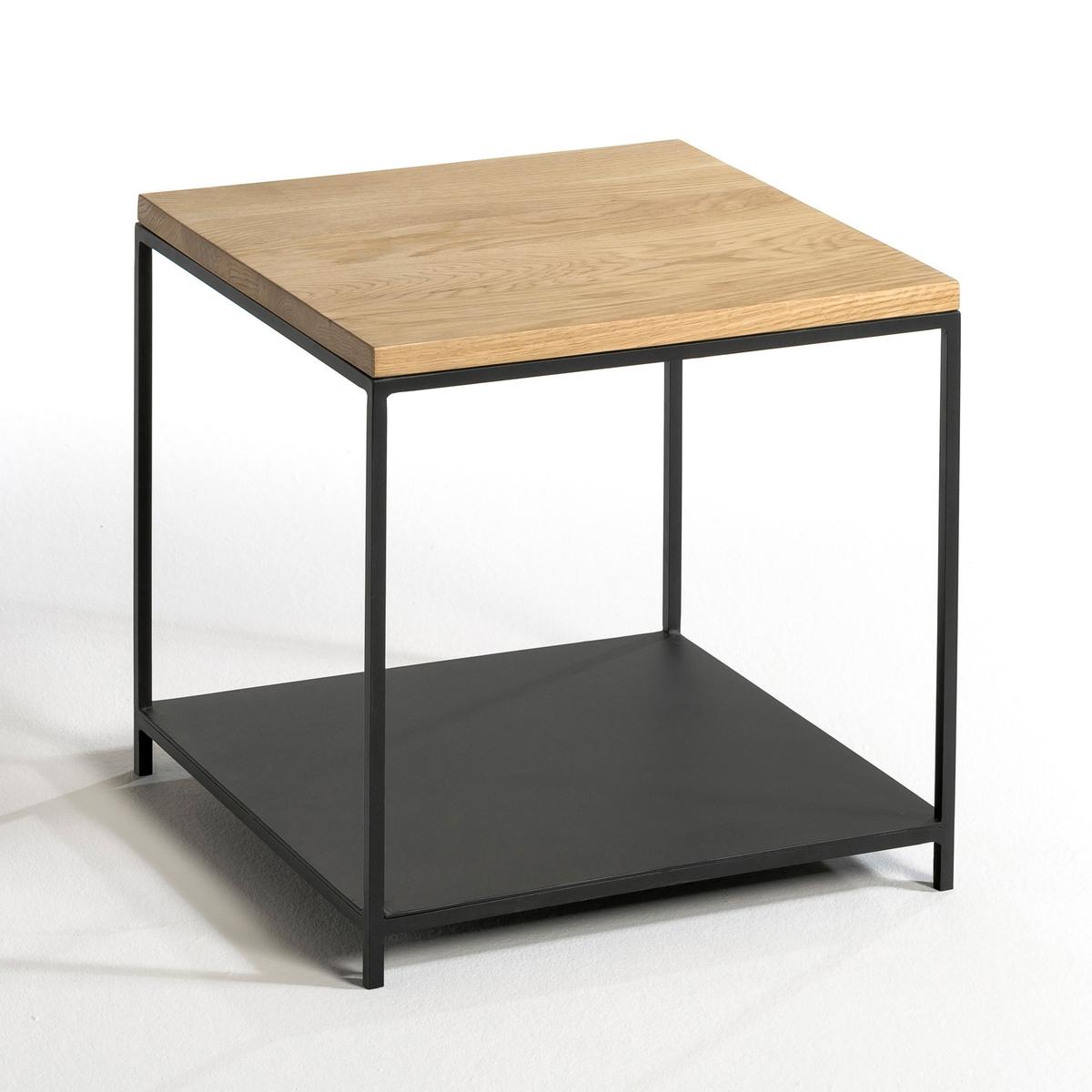 Столик диванный из массива дуба, AranzaХарактеристики : - Металлический каркас с черным матовым покрытием- Дубовая столешница с нитроцеллюлозным покрытием- Поставляется в собранном видеРазмеры : - Ш.40 x В.40 x Г.40 см, 11 кгРазмеры и вес упаковки :- Ш.48,5 x В.47,5 x Г.48,5 см, 13 кг<br><br>Цвет: натуральный дуб
