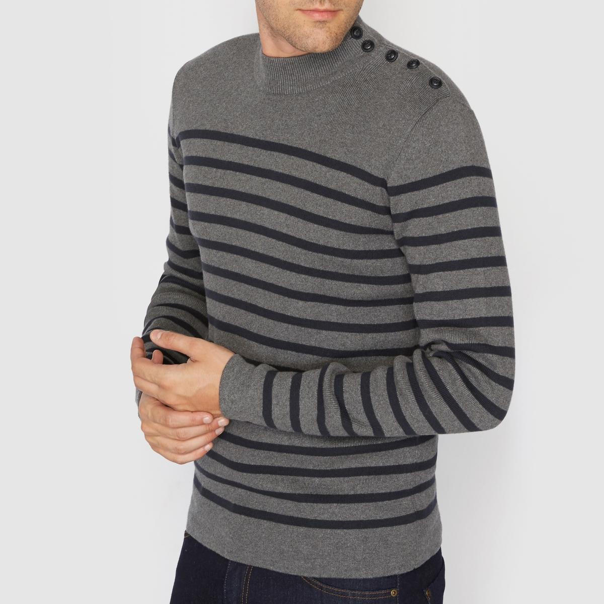 Пуловер с круглым вырезом 100% хлопкаСостав и описание :Материал : 100% хлопкаМарка : R Essentiel.Уход :Следуйте рекомендациям по уходу, указанным на этикетке изделия.<br><br>Цвет: кирпичный,серый в полоску