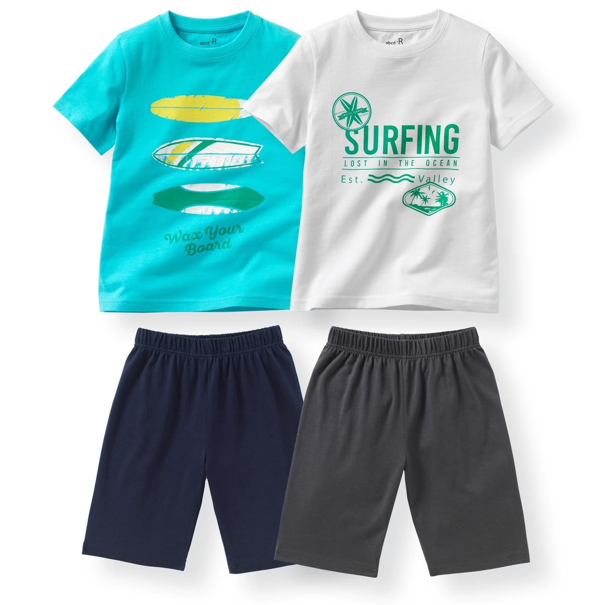 2 пижамы с шортами из хлопка с принтом ''пляж'' 2-12 лет